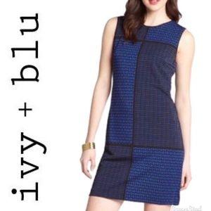 Stretch Jacquard Pattern Sleeveless Dress