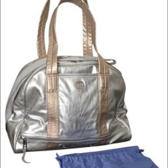 b9f5a7b01a6 lululemon athletica Bags | Metallic Silver Gold Lululemon Om For All ...