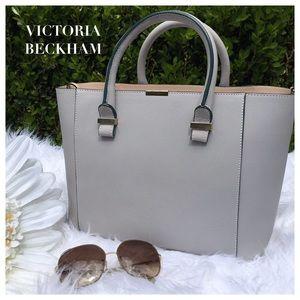 Victoria Beckham Handbags - Victoria Beckham Taupe Buffalo Leather Bag