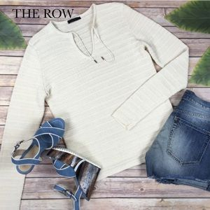 The Row Tops - THE ROW Cream Ribbed Tunic Top