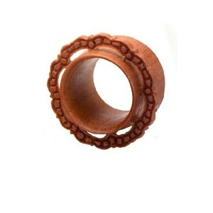 Jewelry - Red Saba Tunnel with Hand Carved Face