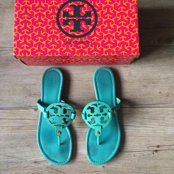 eb6c8c2d5240d Tory Burch Island Turquoise Miller Sandals. M 5768b77dbf6df5ab4906b2f5