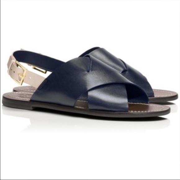 3a2dc7323d74 Tory Burch Bleecker Slingback Flat Sandal. Size 7.  M 5768b9aad14d7b7c04019414