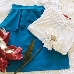 bebe Dresses & Skirts - SALE Bebe Sky Blue Skirt