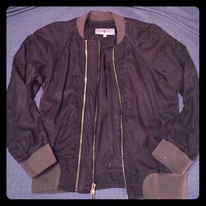 7 For All Mankind Olive Bomber Jacket