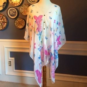 ❤️Butterfly Sheer Tunic or Swimsuit Coverup