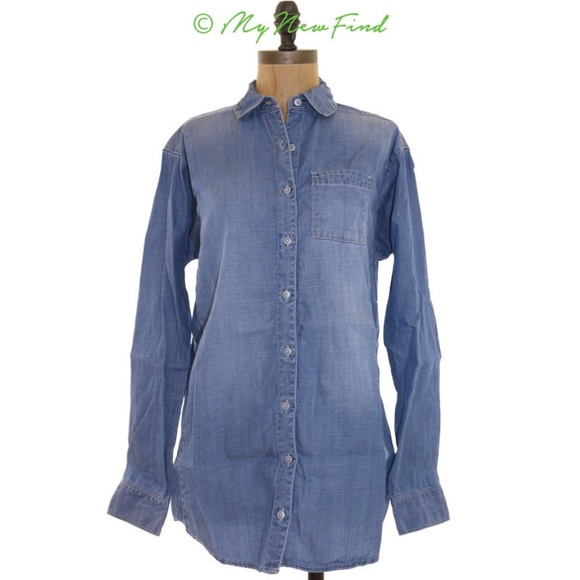 dac6c8a67 Caslon Tops | Oversized Denim Button Down Shirt Xss | Poshmark
