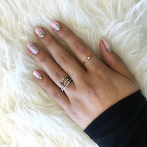 Delicate Gold Triangle Ring