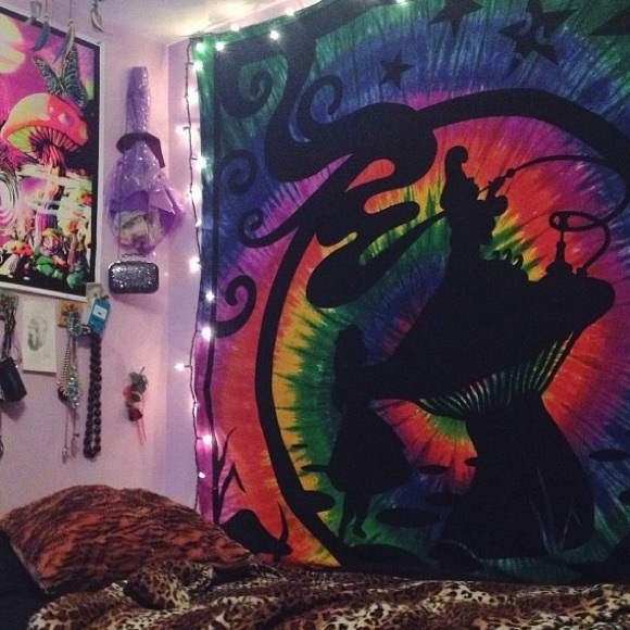 Alice In Wonderland Tie Dye Tapestry Trippy