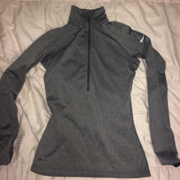 Tight Nike Half Zipup Running Shirt