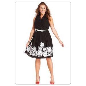 SL Fashions Dresses & Skirts - NWT 24W ribbon border black dress