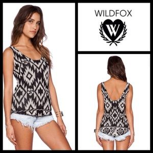NEW! Wildfox white label floral tribal travel tank