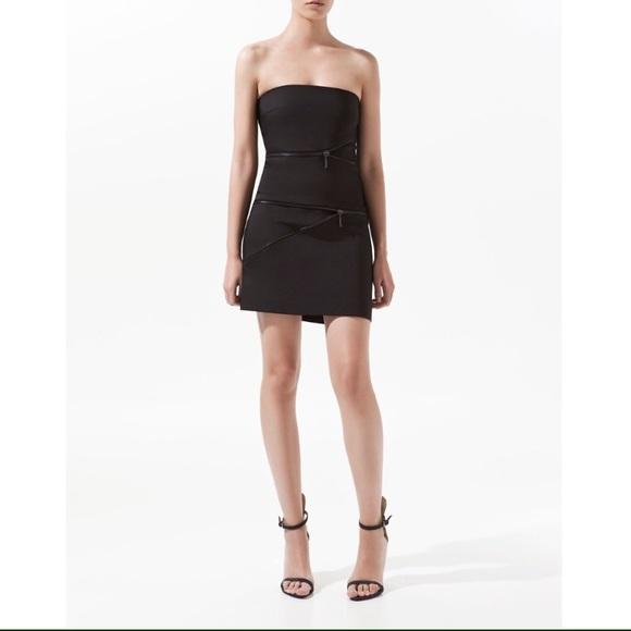 Zara Dresses | Little Black Dress With Zipper