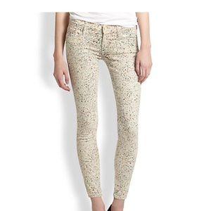 MOTHER The Vamp paint splatter  skinny jeans