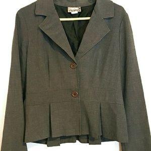Rave Jackets & Blazers - Gray Pleated Blazer
