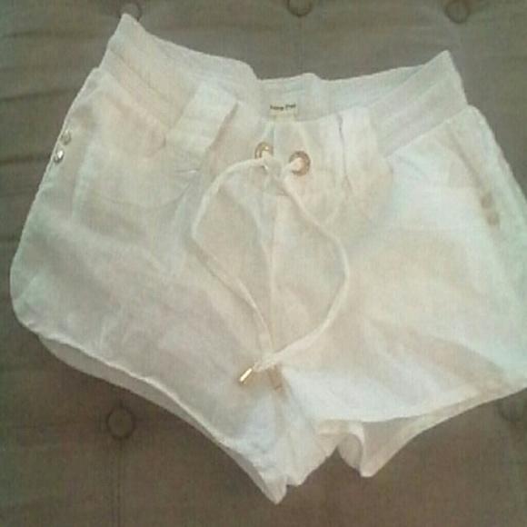 fae388d78f LOVE TREE Shorts   Linen White Tie Waist 8   Poshmark