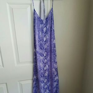 Dresses & Skirts - Purple boutique snakeskin maxi