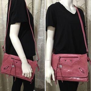 Faux Leather Clutch Handbag Cross-Body Bag
