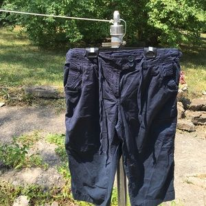 New York and co. Capri cargo pants or long shorts.