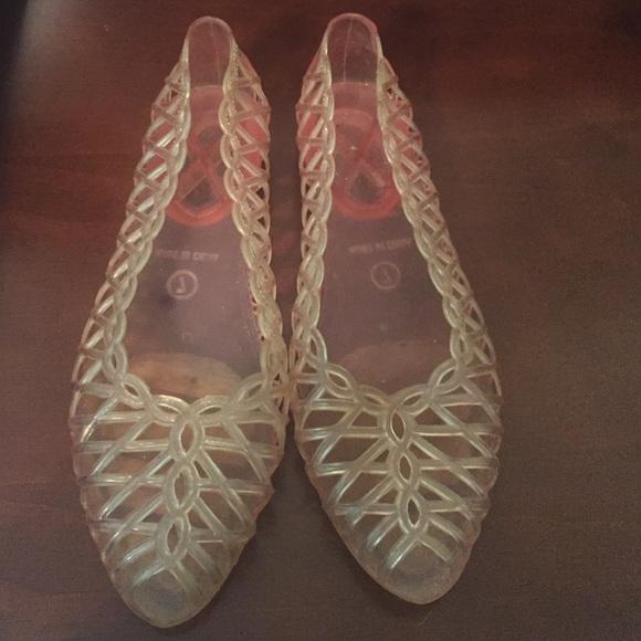 Peep Toe Shoes: Jelly Peep Toe Shoes