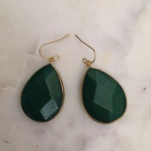 Anthropology Green earrings