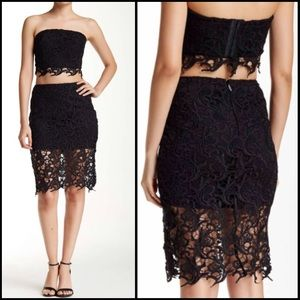WOW couture Dresses & Skirts - WOW Couture Gold Label Two Piece Crochet Set