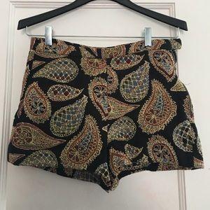 Zara High Waist Printed Shorts