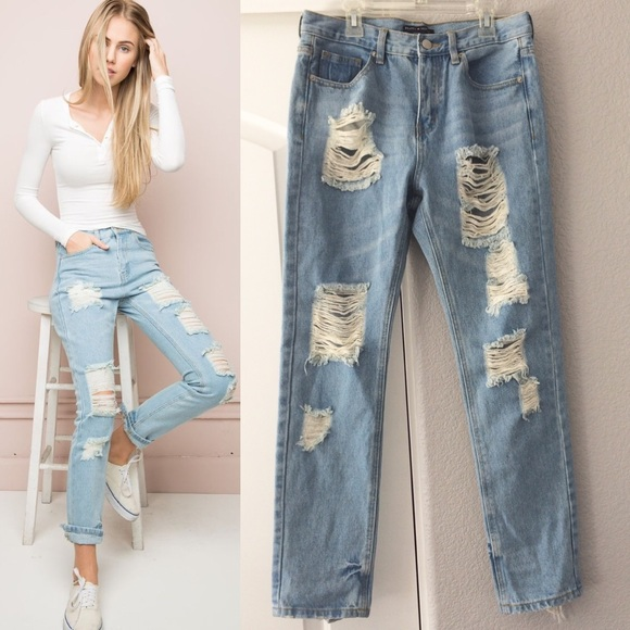 Top Brandy Melville - Brandy Melville Jameson Distressed Jeans from  JF66
