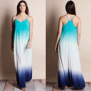 Dip Dye Ombré Maxi Dress