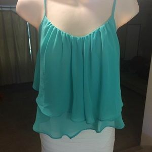 Tops - Mint Crop/Flounce Top