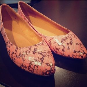 Pink Snakeprint Madewell Leather Flat