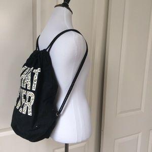 WHATEVER❤️Cheetah print and black drawstring bag