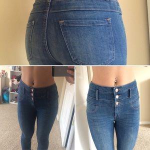 high waisted refuge skinny jeans