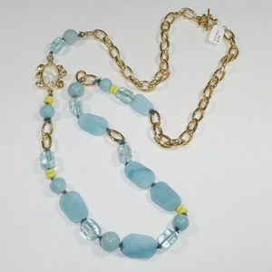 Alexis Bittar Jewelry - Alexis Bittar Long Blue and Gold Necklace - New