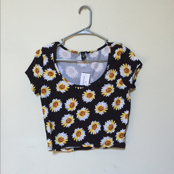 WINDSOR Tops - Never Worn Floral Crop Top!