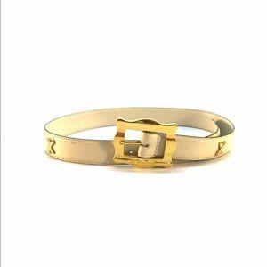 Vintage Cream Leather Paloma Picasso Belt