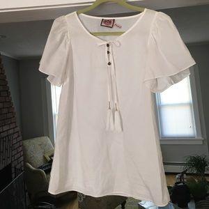 Juicy Couture sz 2 white blouse