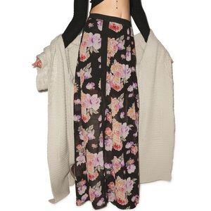 🔥HP🔥NWT Minkpink Floral Breeze Sheer Maxi Skirt