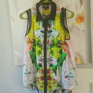 Prabal Gurung floral tank blouse