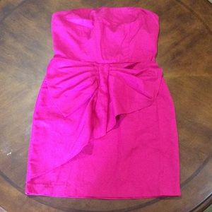 Fuschia strapless dress from Forever 21 Xxi size M
