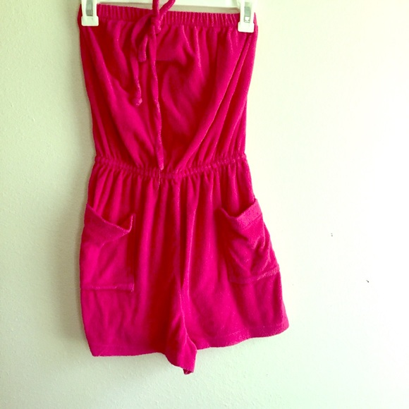 1f3b14294acf Pink romper terry cloth beach tube top onesie. M 5769c8b7f0137d9c010832c6.  Other Swims you may like. 🆕️Vintage - Button Down Lace Coverup