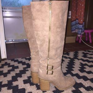 Tall Tan Riverie Just Fab Boots