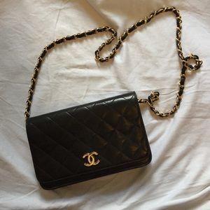 Chanel black lambskin bag