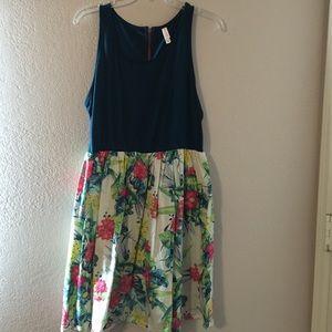 Xhilaration tropical print dress