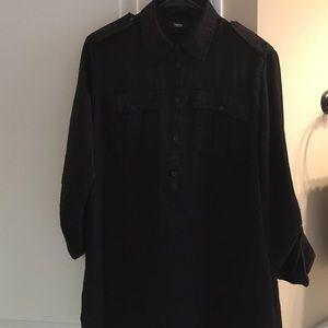 Silky Black Tunic