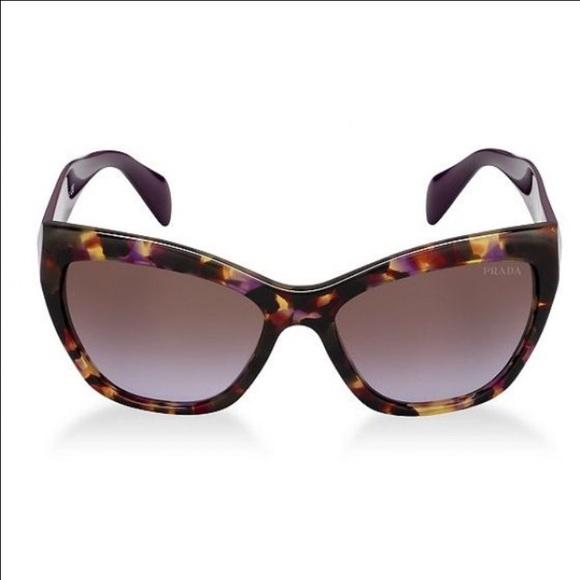 60aee5b2efb Prada cat eye purple tortoise sunglasses. M 5769d375b4188e6a69083b80