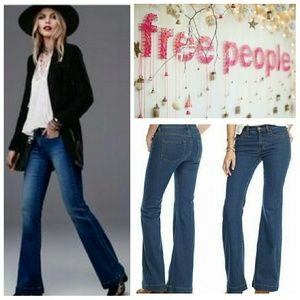 Free People Midrise Clean Flare Jeans
