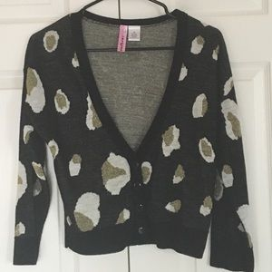 Leopard button up sweater