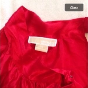 Silky sleeveless Michael Kors top