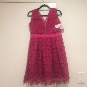 Fuschia Lace Dress